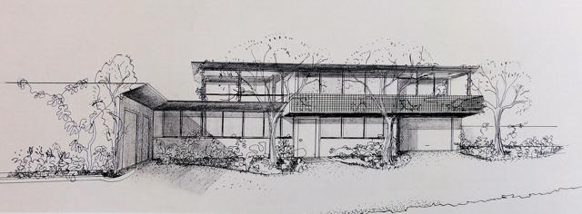 Modern Architecture Drawing modern house drawing