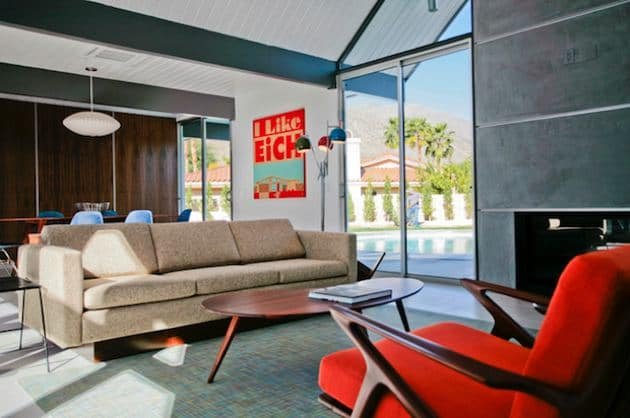 New Eichler Palm springs living