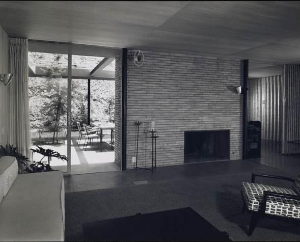 the case study house 1950 - living room - raphael soriano