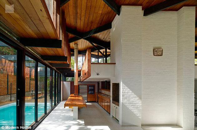 australian modernism Gerry Rippon - Wahroonga house - pool