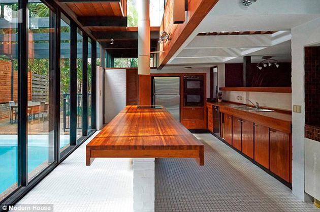australian modernism Gerry Rippon - Wahroonga house - kitchen