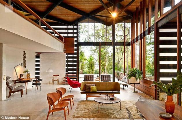 australian modernism - Gerry Rippon - Wahroonga house - living room