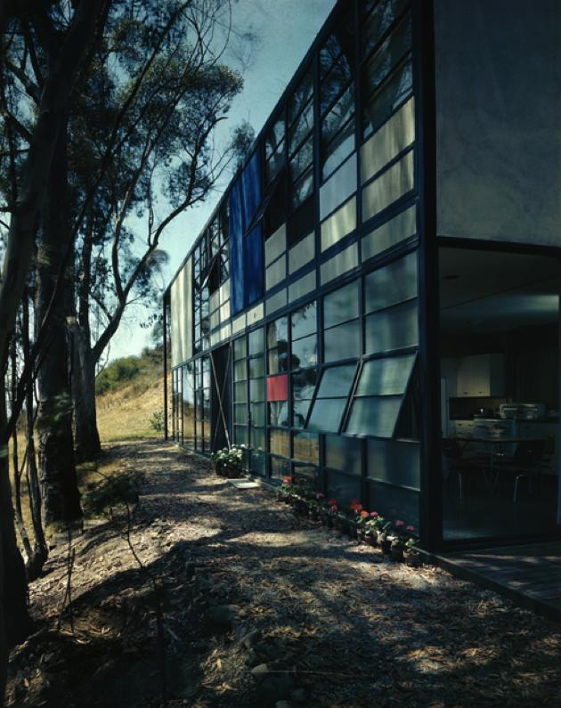 image charles and ray eames  case study house no    pacific palisades  ca  interior for term side of card  Case Study House No