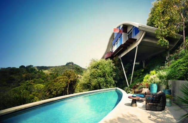 john lautner garcia house swimming pool view