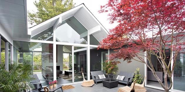 Eichler home remodel - Double Gable - klopf architecture