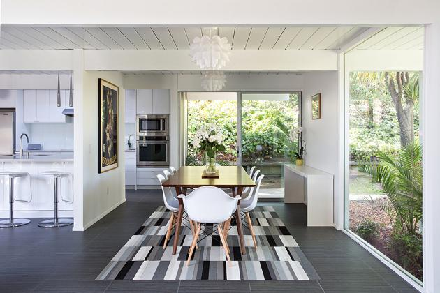 Eichler home remodel - Double Gable - klopf architecture - dining area