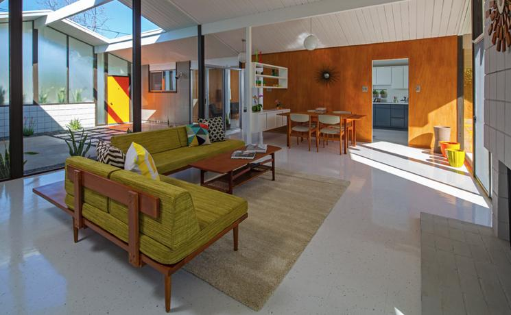 Eichler home - Orange County - Anshen and Allen - living