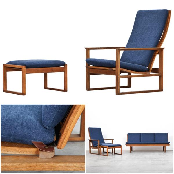 borge mogensen - lounge chair with ottoman 1956