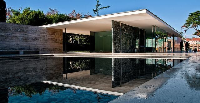 Brentwood Mid Century Modern Home furthermore Barcelona Pavilion Mies Van Der Rohe besides Old Farmhouse Conversion Into Office Space also Hollywood Hills Modern Zen Villa furthermore Modern House Architecture. on mid century spanish homes