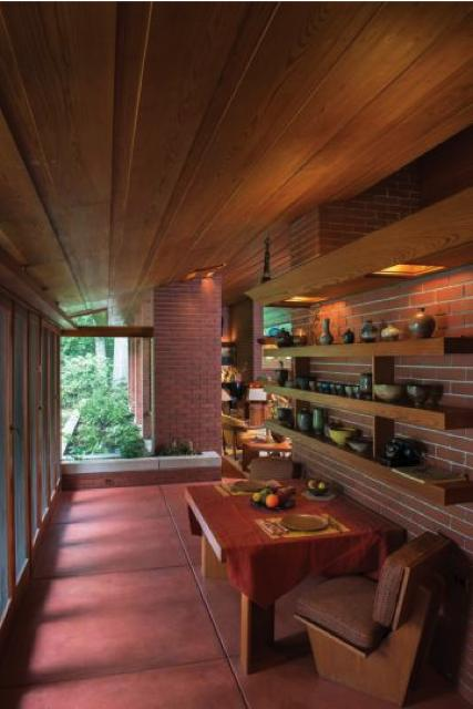 frank lloyd wright - zimmerman house - dining area