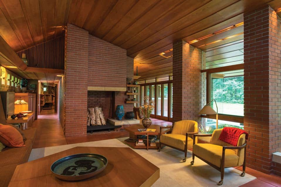 frank lloyd wright - zimmerman house - living room