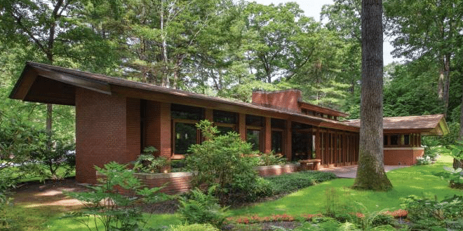 a frank lloyd wright usonian home the zimmerman house. Black Bedroom Furniture Sets. Home Design Ideas
