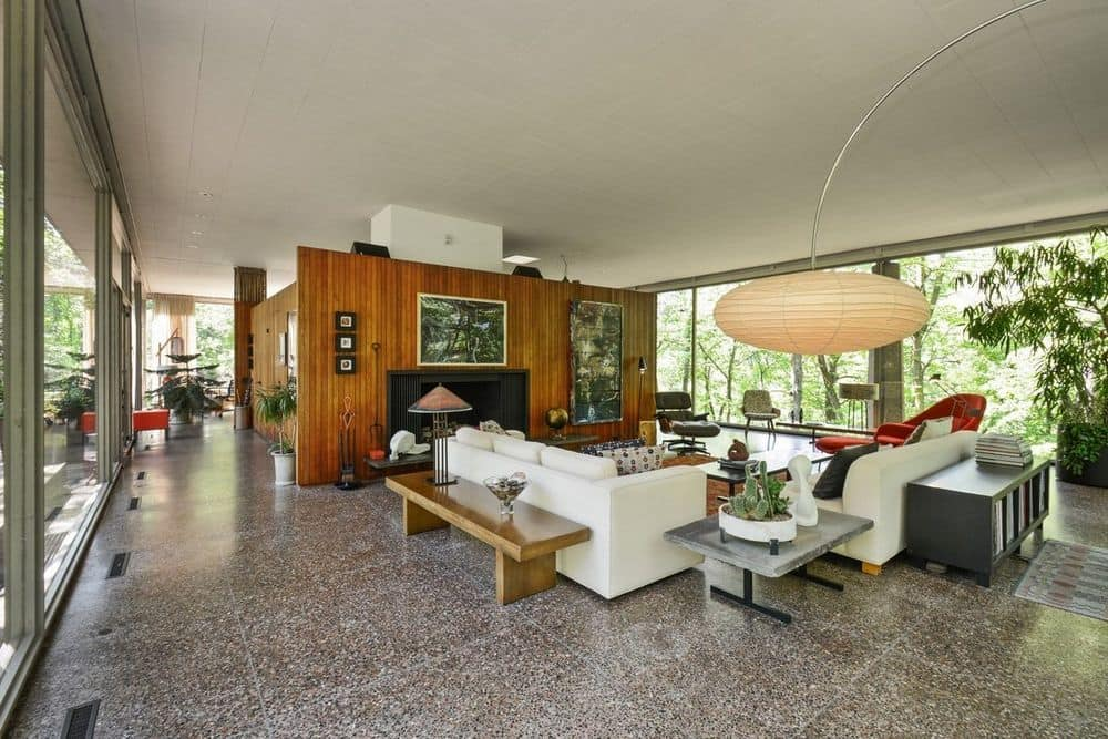 Davis Rockwell glass House - living