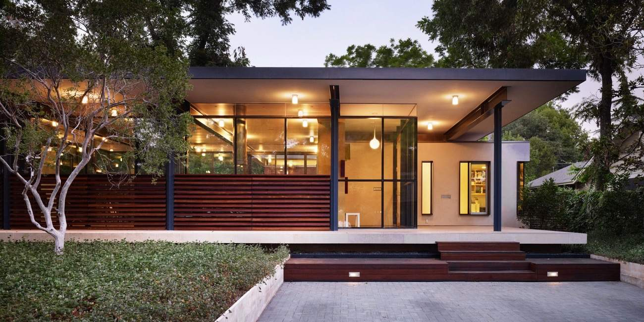 6 revolutionary mid century houses with a flat roof Century home builders