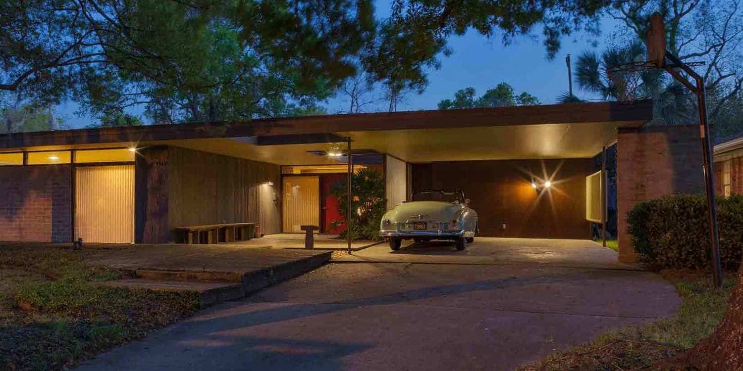Mid century modern on the cusp the bendit house mid Century home builders