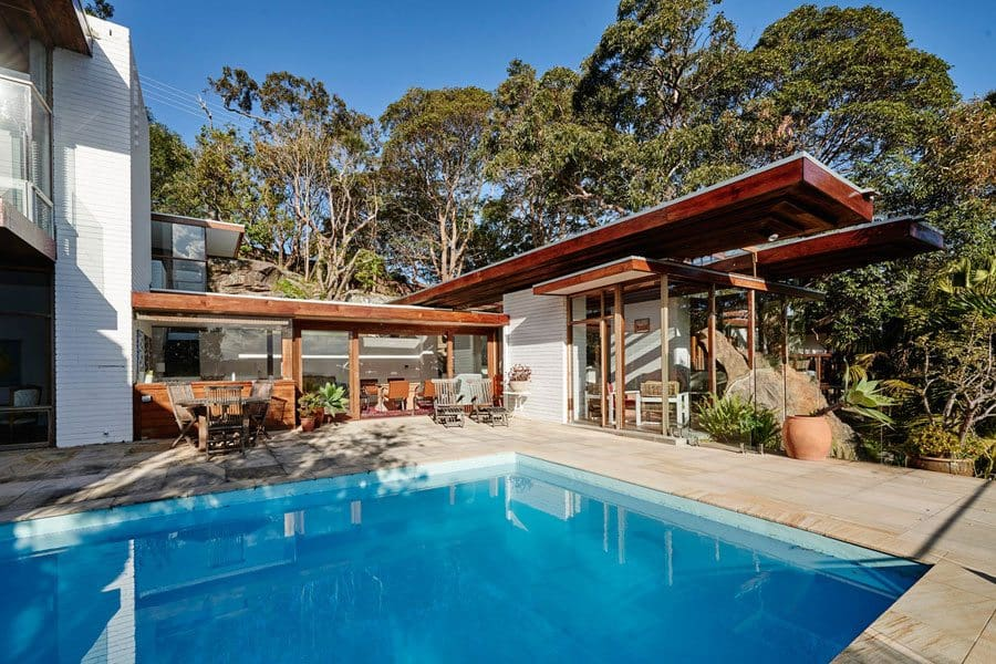 mid-century House by Australian architect Peter Muller - pool