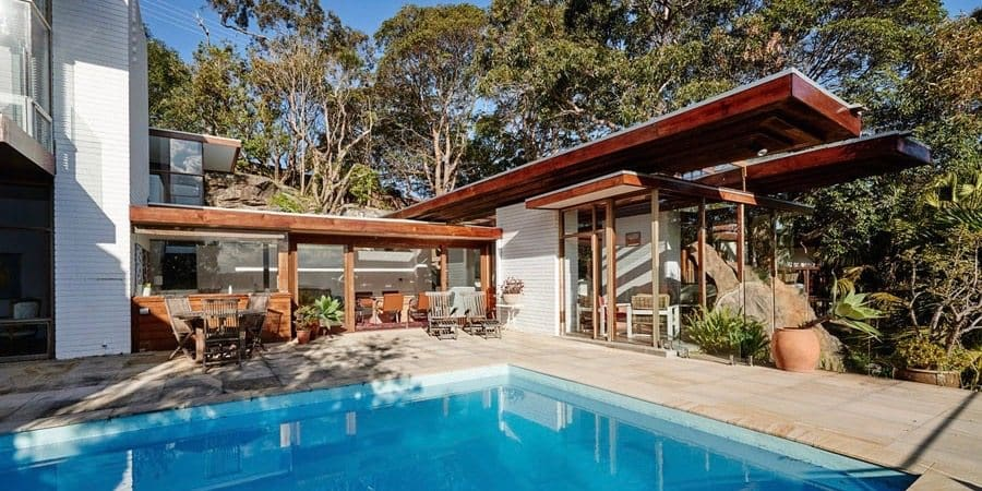 mid-century House by Australian architect Peter Muller - exterior pool