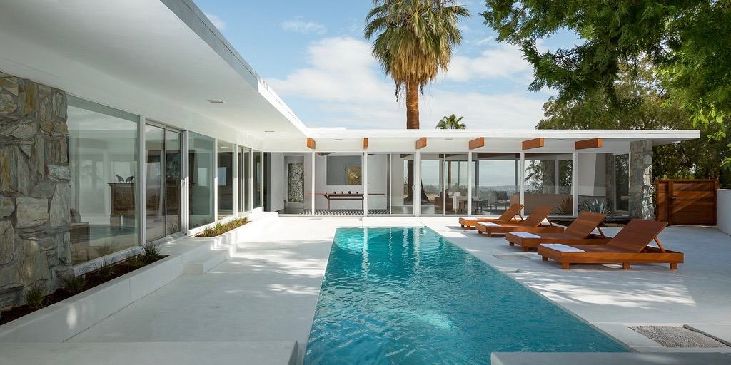 Donald Wexler's Smith Residence exterior pool view