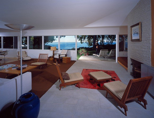 Richard Neutra Freedman Residence Upstairs Living Room Daylight