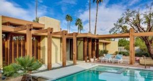 Stan Sackley Palm springs mid century home exterior swimming pool