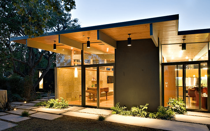 eichler home renovation guy ayers architects - exterior