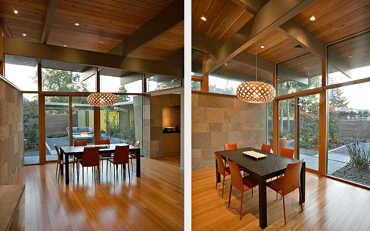 eichler home renovation guy ayers architects - dining area