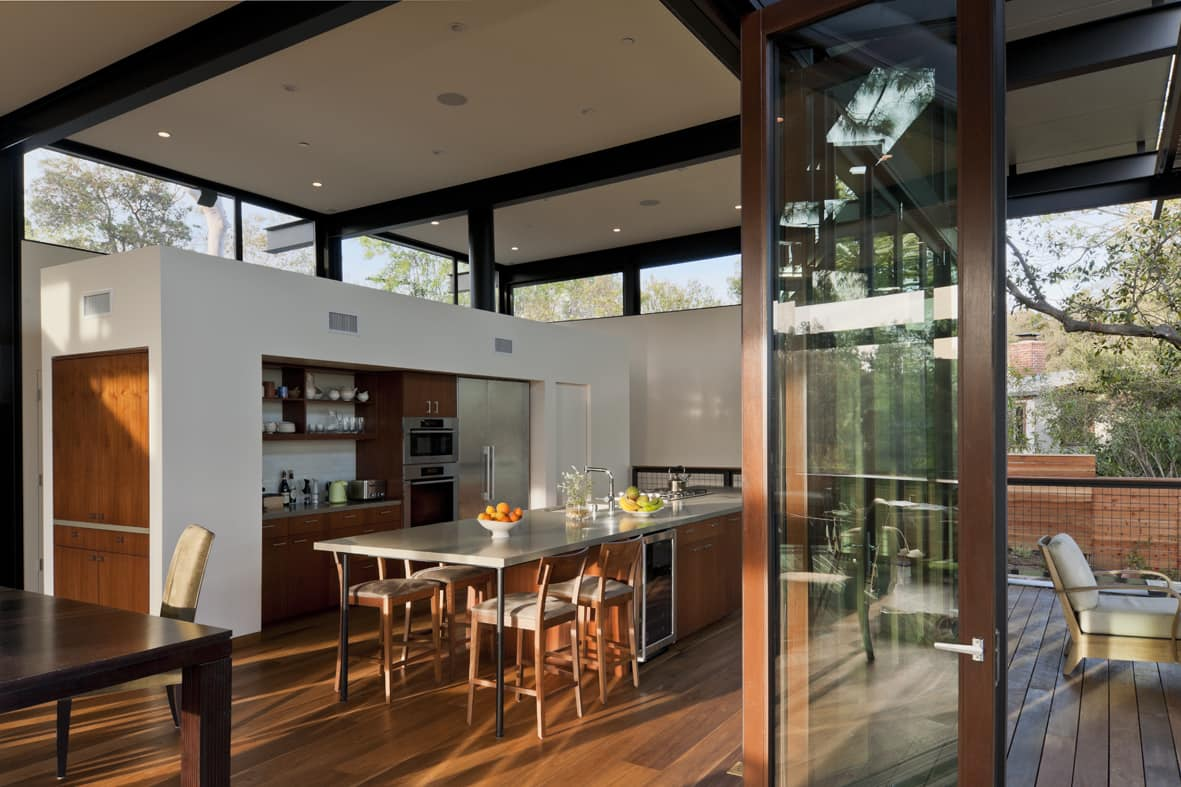 Crestwood Hills - Nonzero architects - Broom Way Residence interior dining area