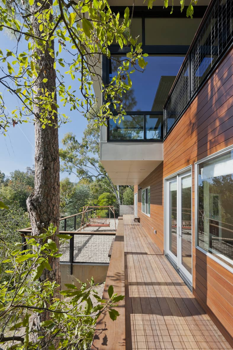 Crestwood Hills - Nonzero architects - Broom Way Residence - terrace