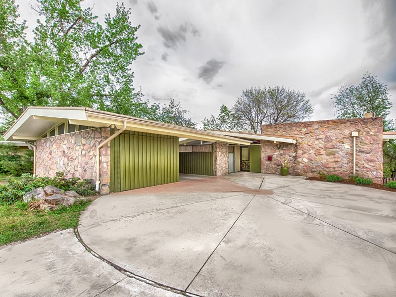Not one day seems to be passed for this mid century house for Mid century modern homes denver