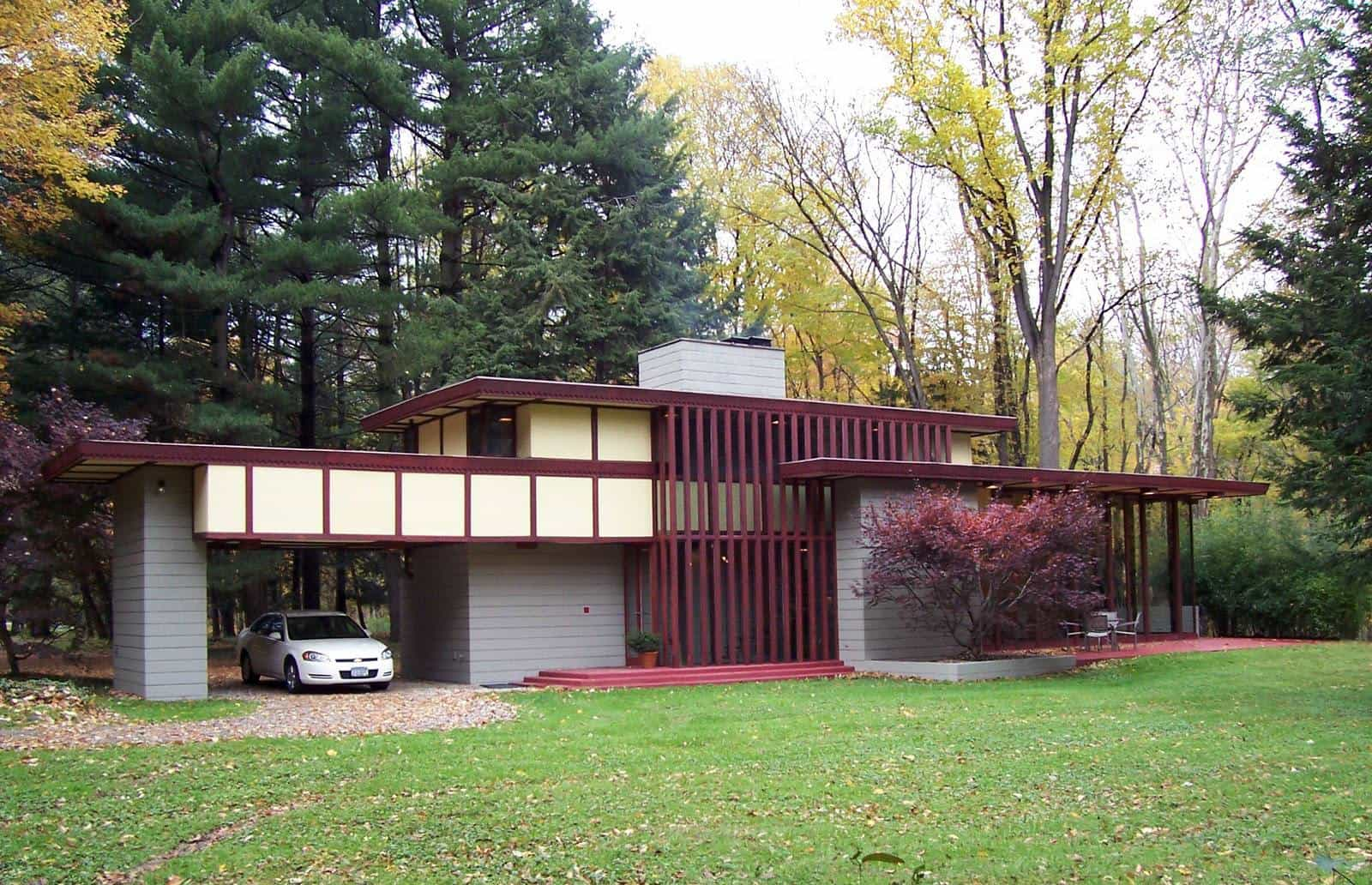 frank lloyd wright - penfield house - exterior