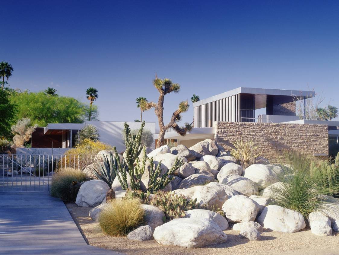 richard neutra kaufmann house - palm springs - exterior