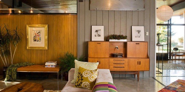 mid-century modern house renovation by Larry Pearso