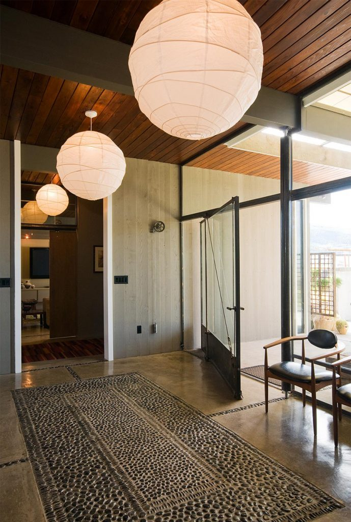 mid-century home renovation Larry Pearson entrance