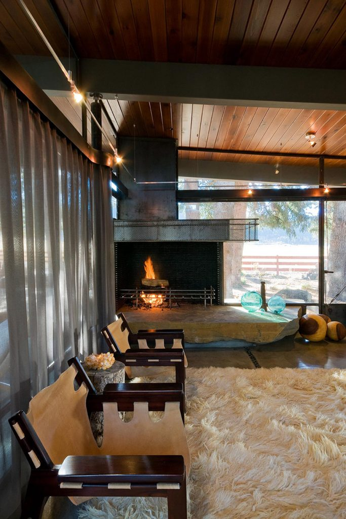 mid-century home renovation Larry Pearson living