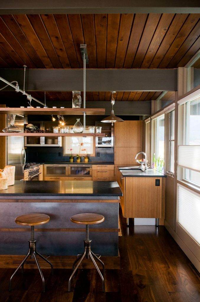 mid-century home renovation Larry Pearson kitchen