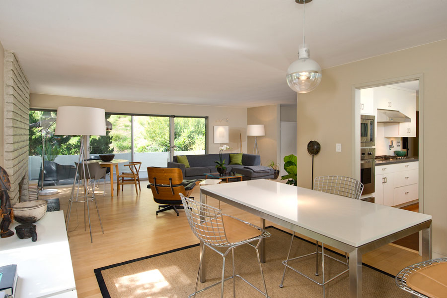 Mid Century in Beachwood Canyon dining area