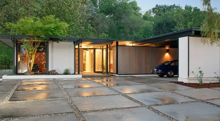 mid-century house by Richard Dorman Sherman Oaks exterior