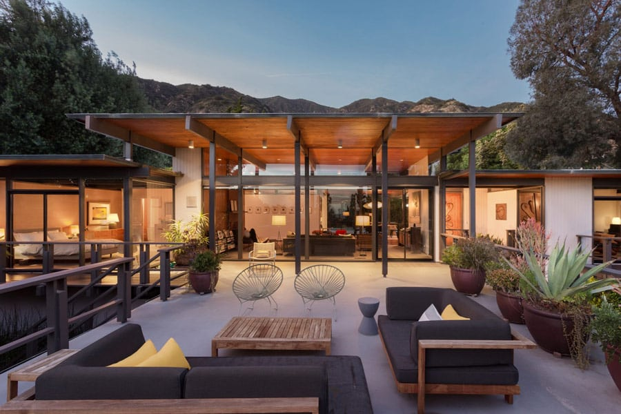 mid-century modern house in Pasadena - Thomas A. Dismukes - front