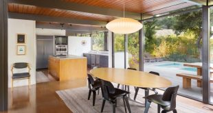 mid-century house by Thomas A. Dismukes in Pasadena dining area