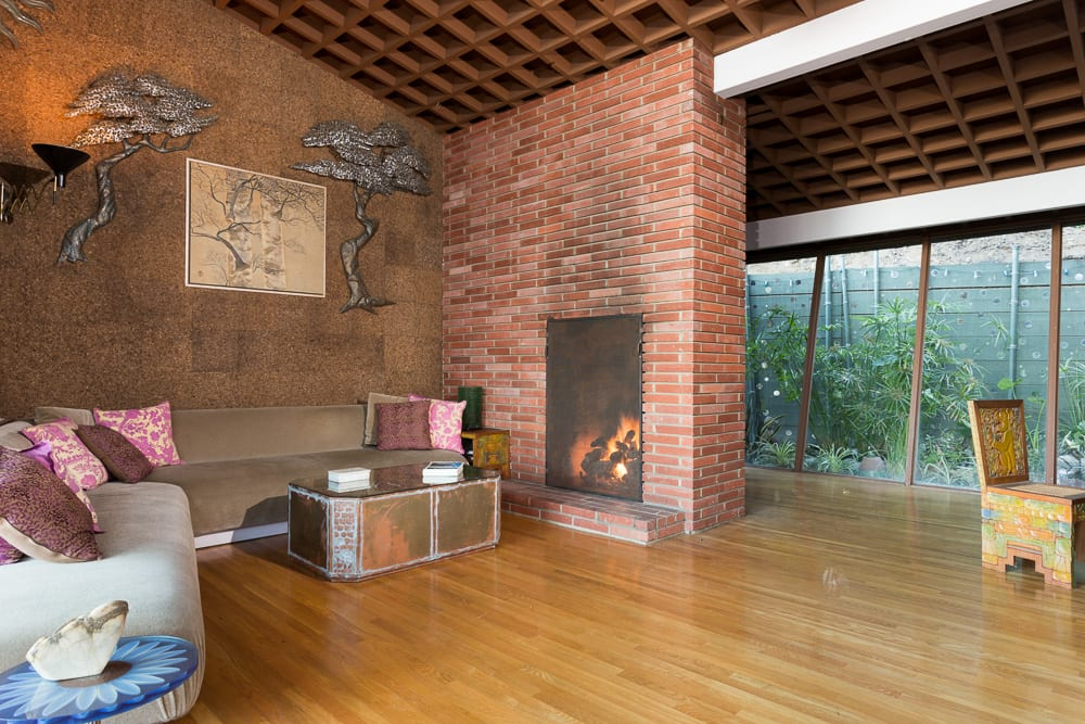 A. Quincy Jones family house Laurel Canyon house - living room