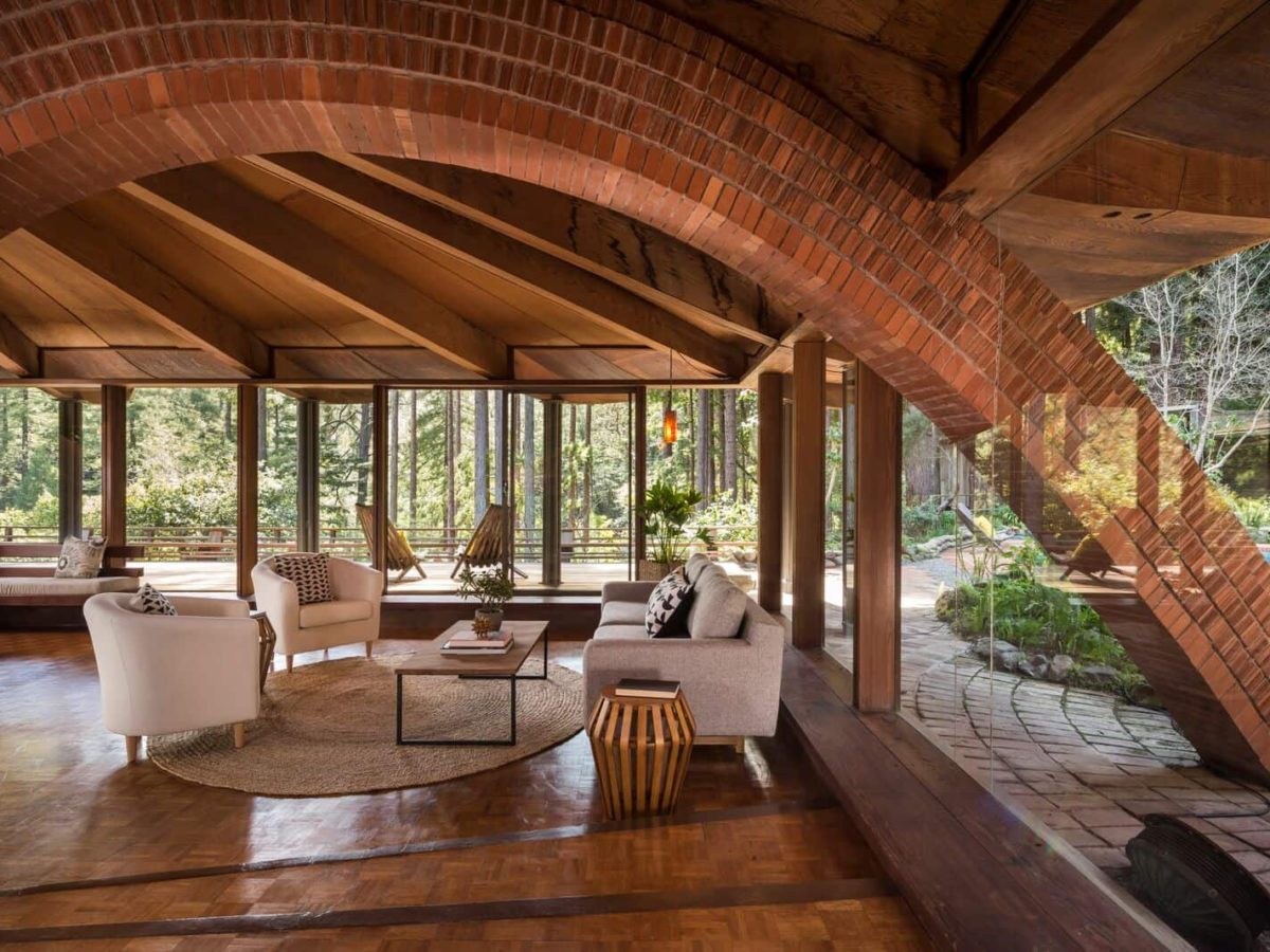 Liebermann S Mill Valley House Has A Strong Frank Lloyd Wright Influence