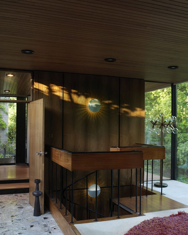 mid-century house David Shelley - entrance