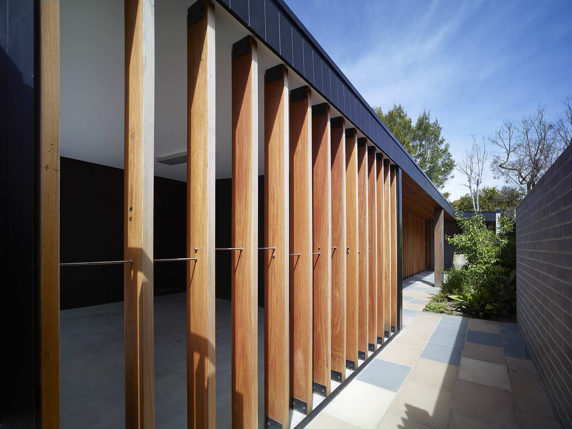 modern house - Hover House - Bower Architecture fence