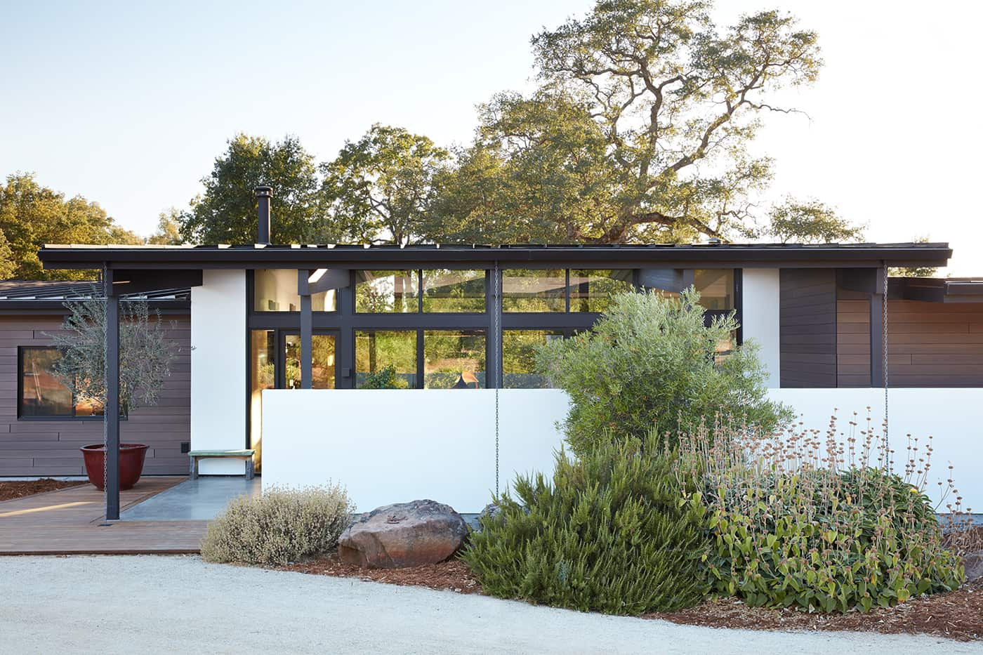mid-century house renovation by Klopf architects in Sacramento - exterior front