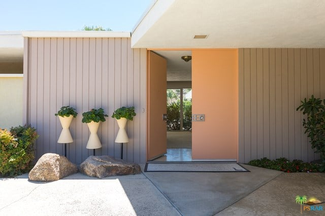 mid-century palm springs house rick harrison - entrance