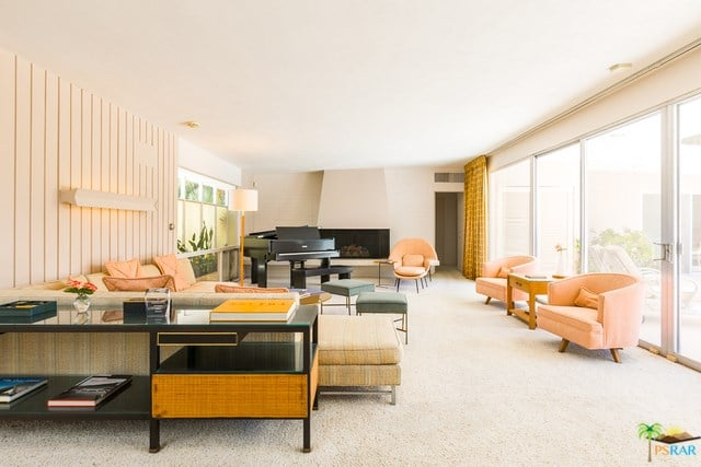 mid-century palm springs house rick harrison - living room