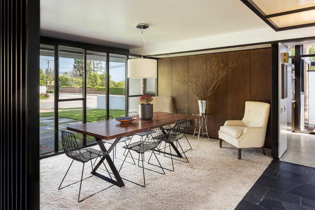 mid-century ranch style house california - dining area