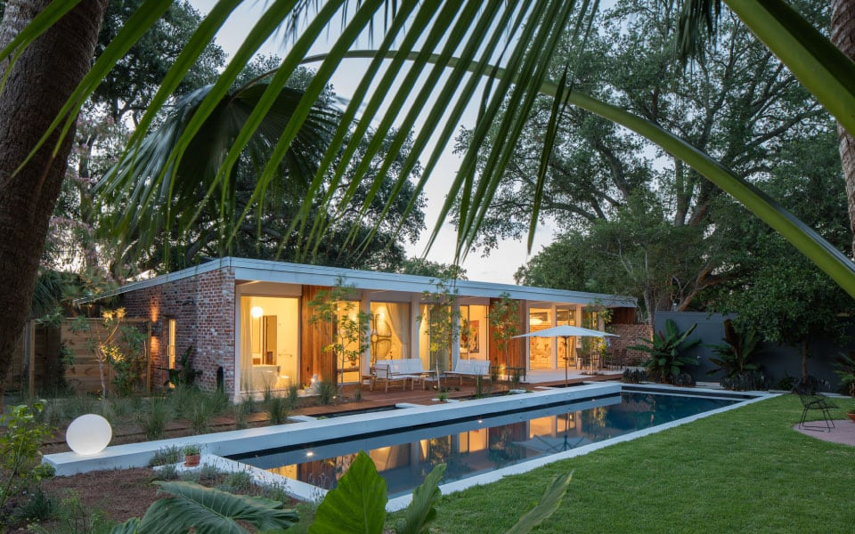 mid-century Residence renovation by Curtis and Davis' Emerald St.
