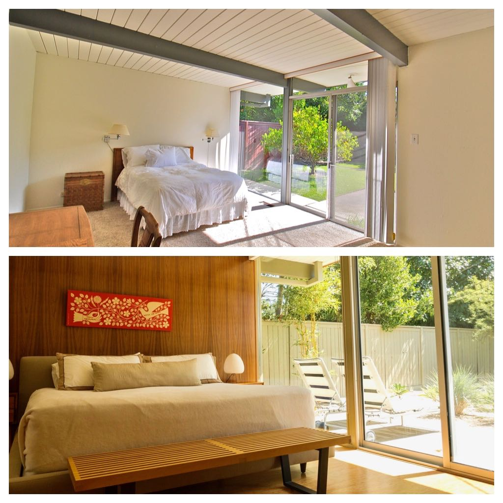Eichler Home renovation - before/after - bedroom