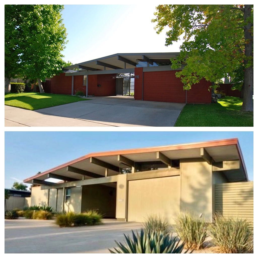Eichler Home renovation - before/after - exterior